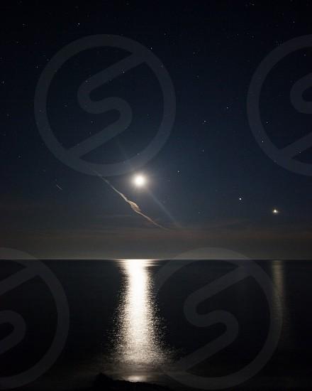 MooncloudsLake MichiganMichiganreflectionastronomyVenuswater photo