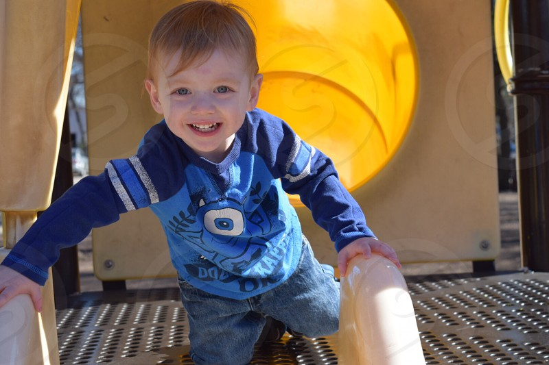 #happy #park #boy #parkactivities #slide photo