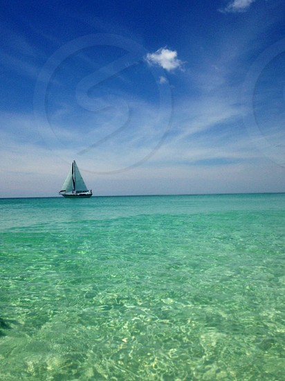 Sailboat at the beach last week photo