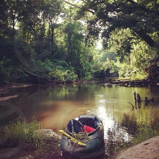 Camping kayaking Alabama creek summer adventure photo