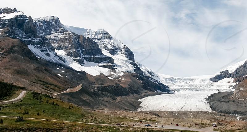 Athabasca Glacier in Jasper National Park Alberta photo