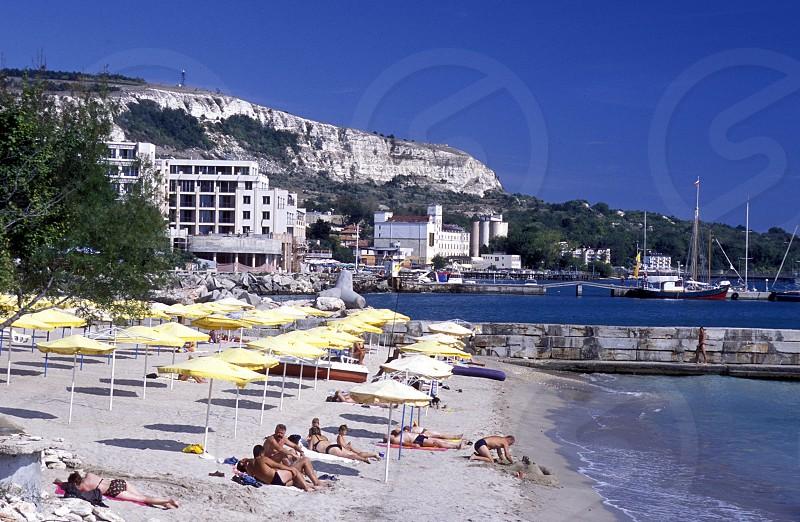 the beach of the town of Balcik in Bulgaria in east Europe. photo