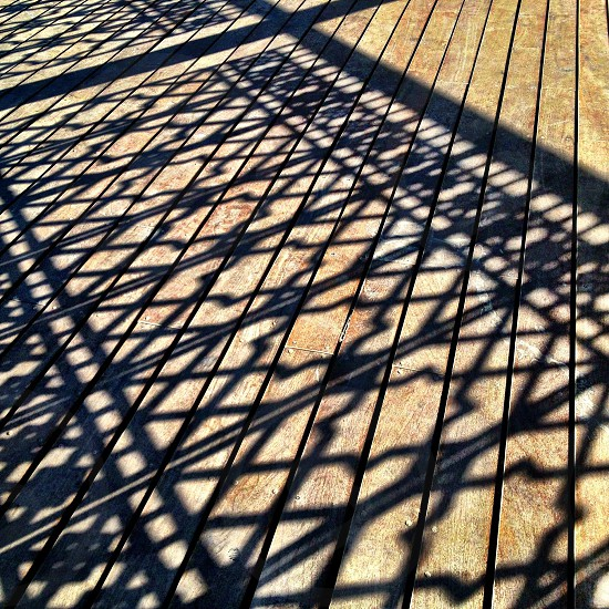 wood deck walkway photo
