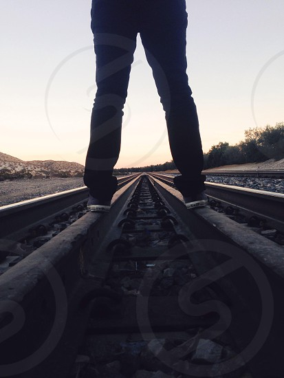Lines on the tracks  photo