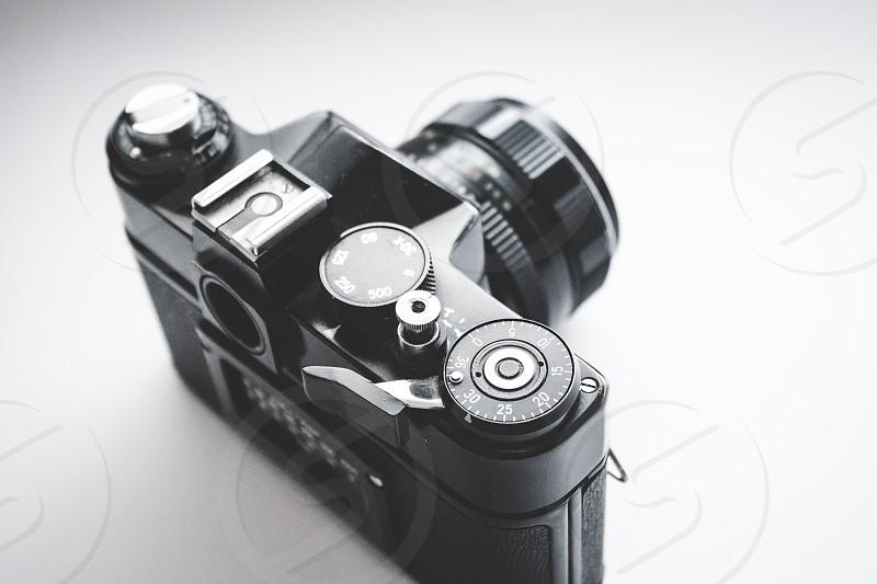 Vintage film camera. photo