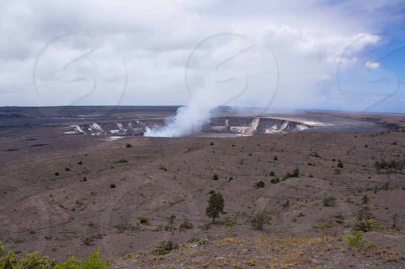 Active volcano on the Big Island of Hawaii in the Volcanoes National Park photo