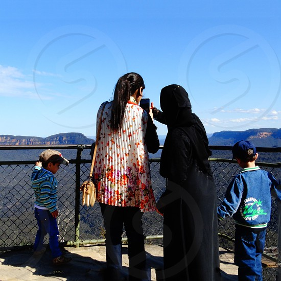 tourism travel family mountains nature Blue Mountains New South Wales photo