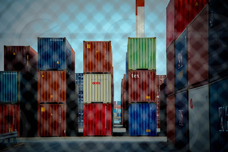 stack rows of freight containers at dpcl photo