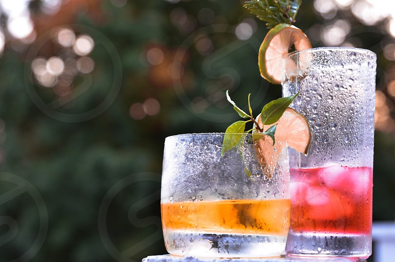 Cocktail drinks for party friends. photo