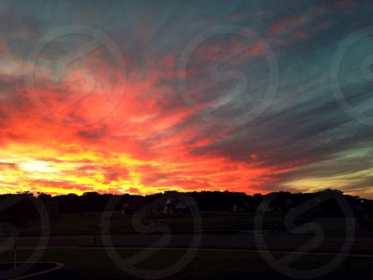 Cloudy Sunset photo
