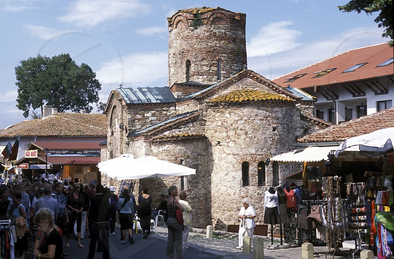 the old town of  Nesebar on the coast of the Black sea in Bulgaria in east Europe. photo