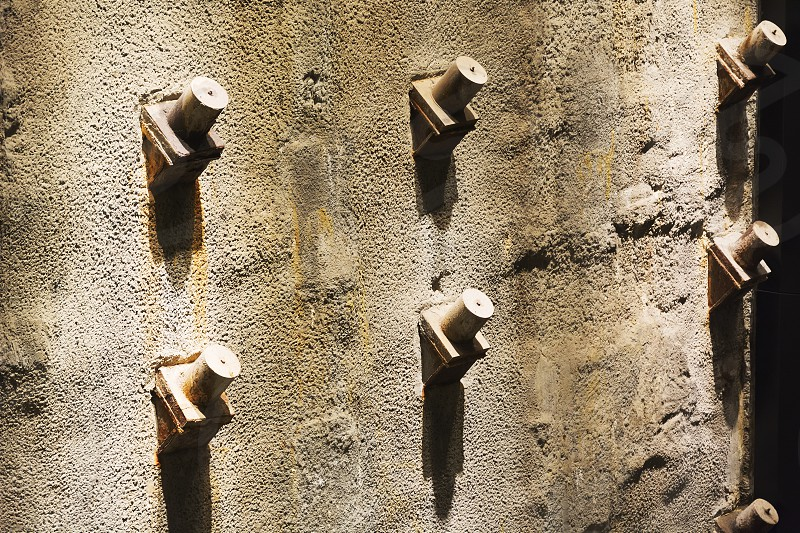 New York USA november 2016: detailed view of the Twin Tower foundations remains in the National 9-11 Memorial Museum in lower Manhattan New York photo