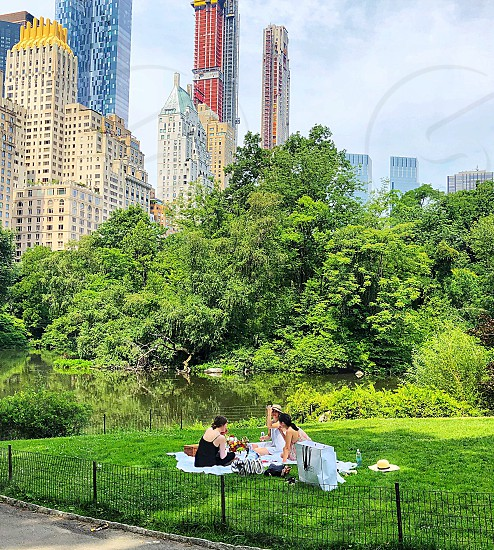 Summer summertime lifestyle picnic Central Park relaxing afternoon summer fun! photo