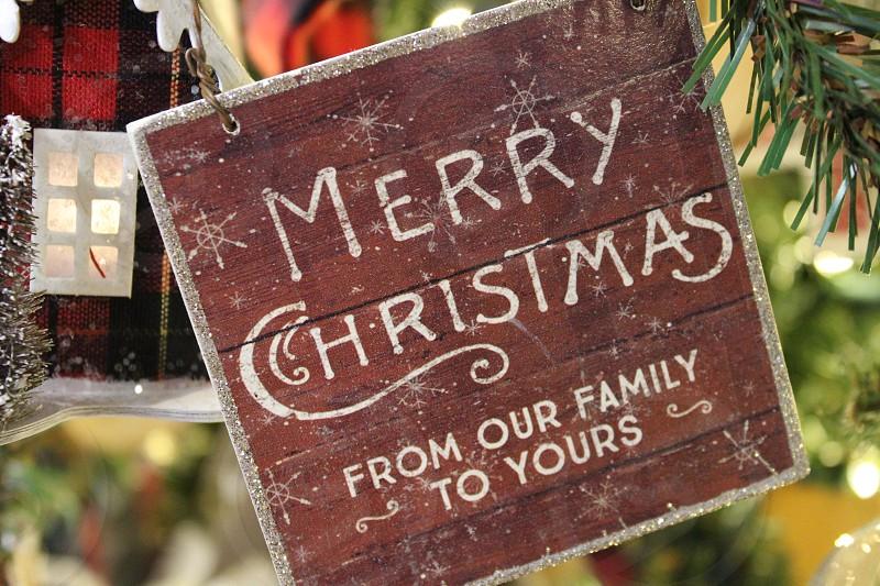 Merry Christmas ornament photo