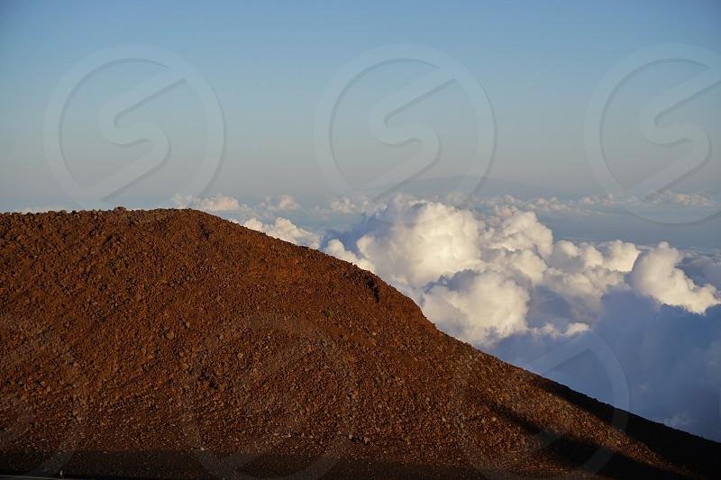 The Haleakala volcano national park in Maui Hawaii photo