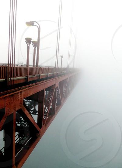 Golden gate bridge fog San Francisco photo