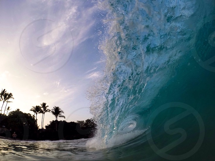 Barreling close out wave photo