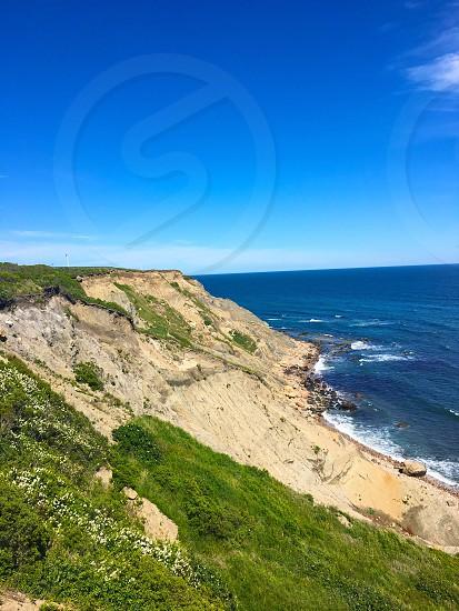 Block Island Rhoda Island ocean bluffs dunes photo