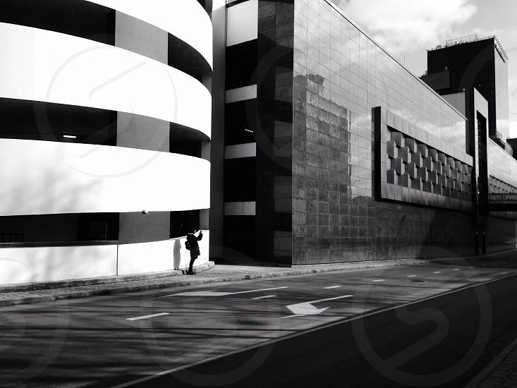Photographer shooting urban photos photo