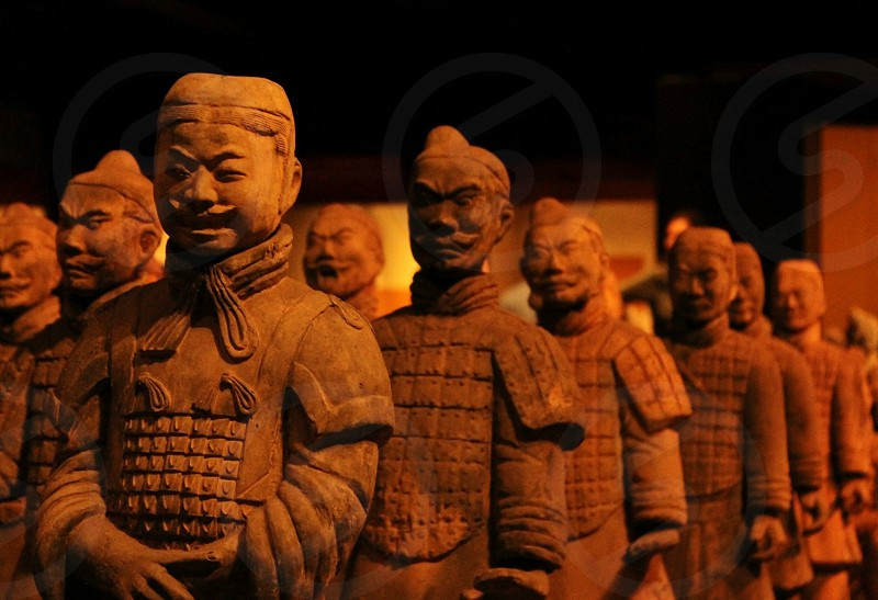 imperial army statue china  photo