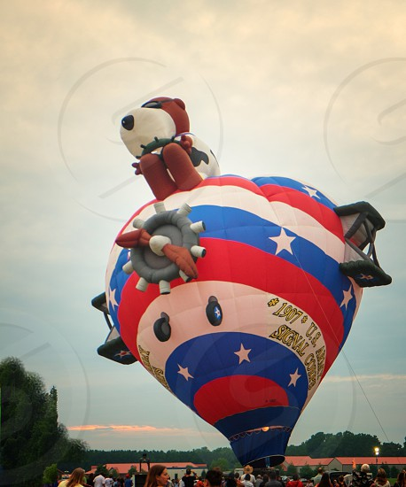 Hot Air Balloon with Snoopy photo