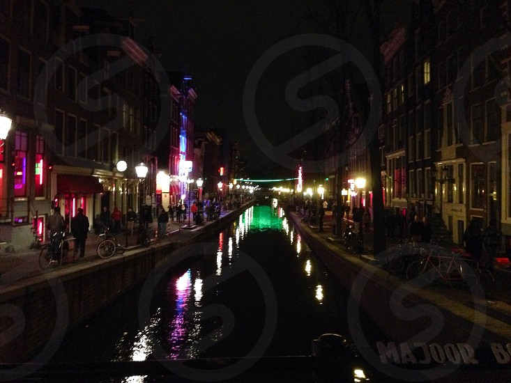 Red light district in Amsterdam  photo