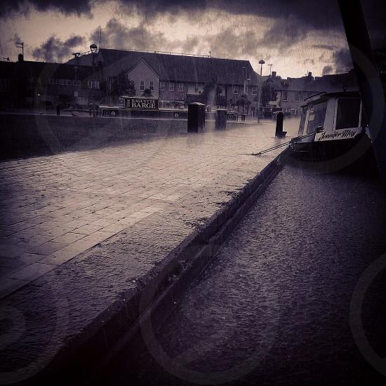 Rain on the canal  photo