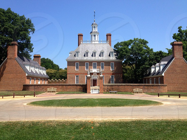 The Governor's Mansion in Williamsburg Virginia. photo