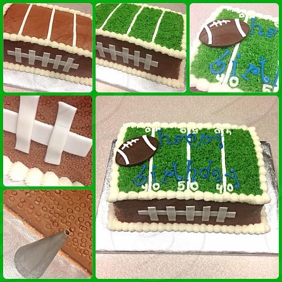 Football cake photo