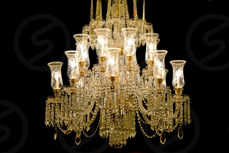 gold chandelier photo