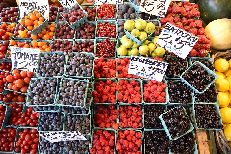 Farmers Market produce berries photo