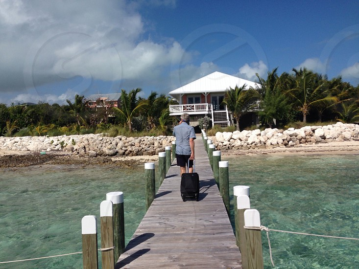 Walking up the dock in the Bahamas  photo