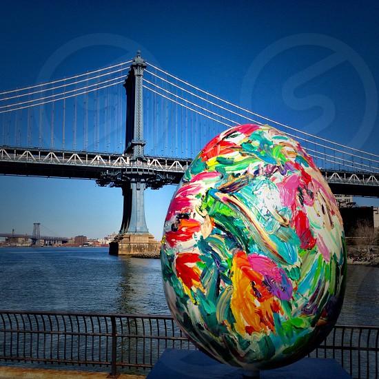 Chrissy Angliker's egg. PSYCHEDELIC EGG FLOWER. THE FABERGÉ BIG EGG HUNT NYC 2014.  photo