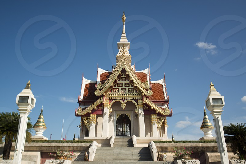 the City Shrine in the city of Udon Thani in the Isan in Northeast Thailand. photo