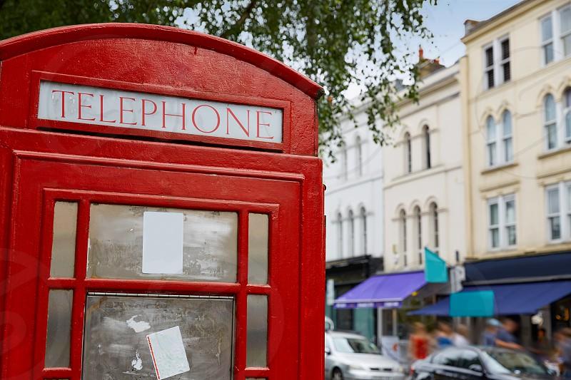 London telephone box inPortobello road UK England photo