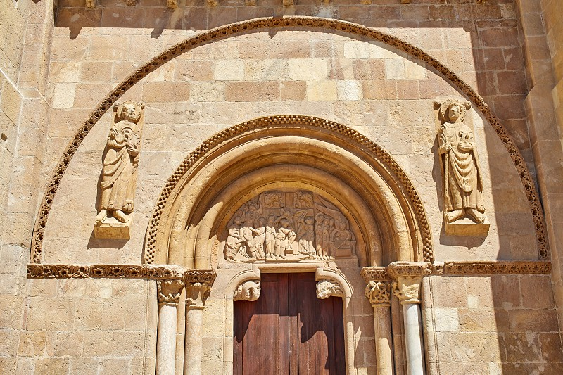 Leon San Isidoro church by the way of saint James at Castilla Spain photo