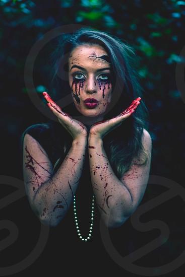 Doll horror dark kiss photo