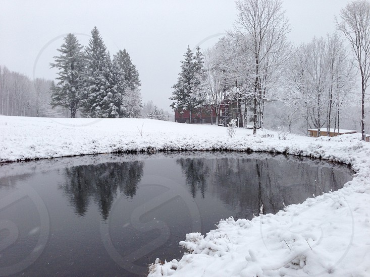 Vermont on a cold wintery day photo