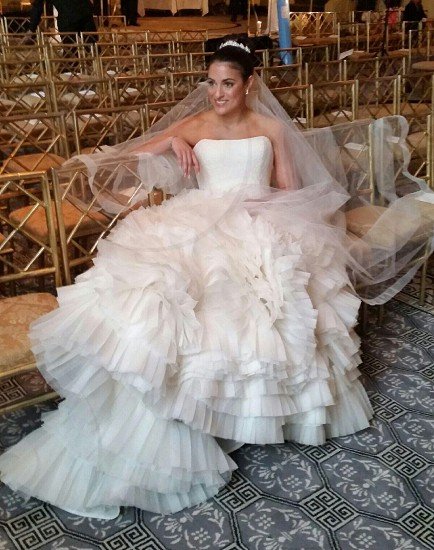 Bride image wedding Vera wang gown NYC March photo