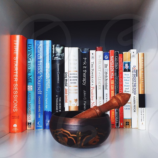 Home library and home decor photo