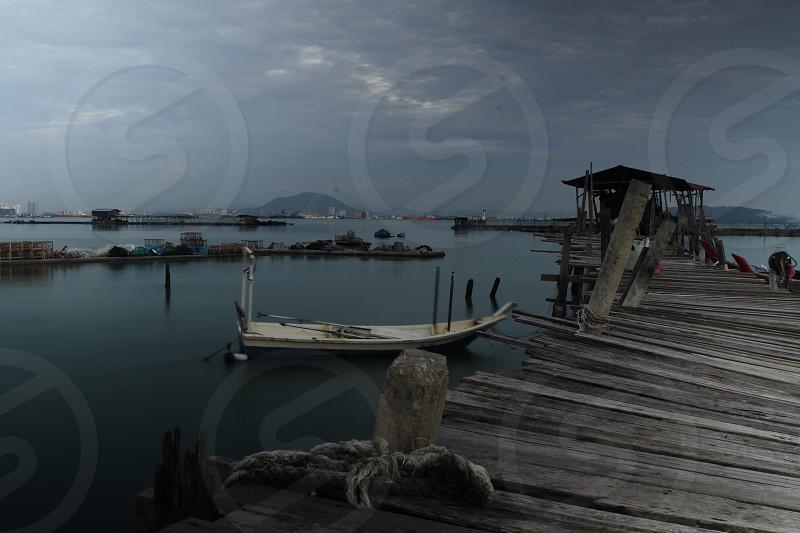 Landscape Nature Jetty Sea Landscape ND Filter Long Exposure Fisherman Village photo