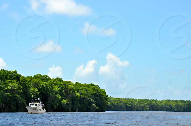 Boat on the Ohio River - Indiana USA photo