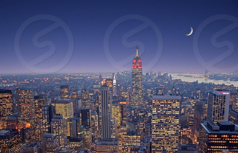 Moon over Manhattan photo