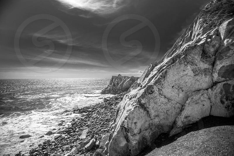 rocks by the beach photo