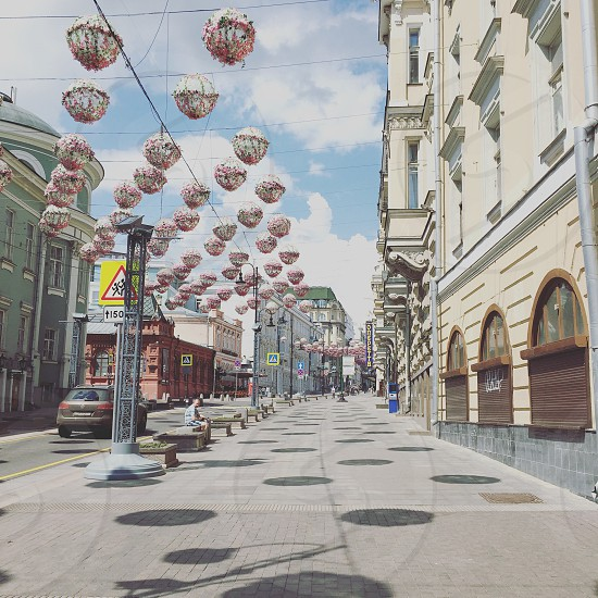 Moscow street summer city  photo