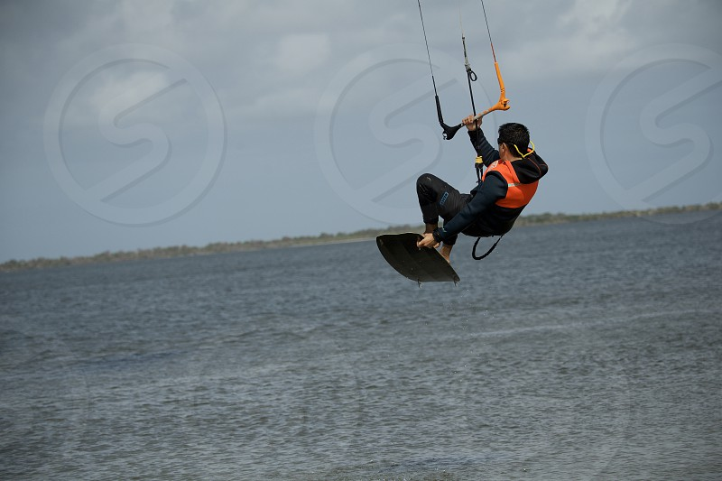 Kite surfers in Florida photo