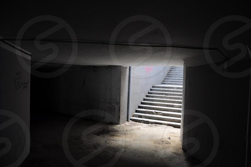 underground basement and stairs photo
