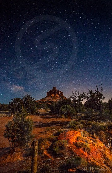 Bell Rock pathway under the stars photo