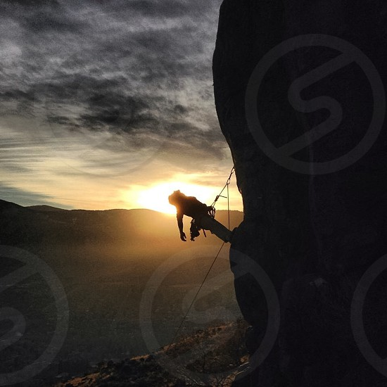 Sunset climbing photo