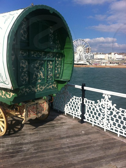 Brighton pier from the Gypsy perspective  photo